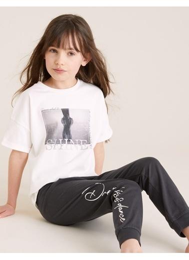 Marks & Spencer Saf Pamuklu Grafik Pijama Takımı Renkli